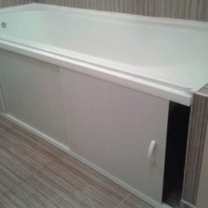 Установка экрана под ванну