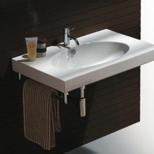 Установка подвесной раковины в ванной