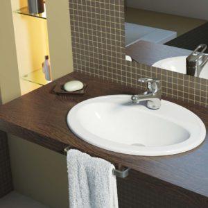 Установка раковины на столешницу в ванной