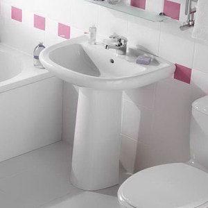 Установка раковины тюльпан в ванной